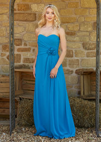 Chiffon Strapless Bridesmaids Dress