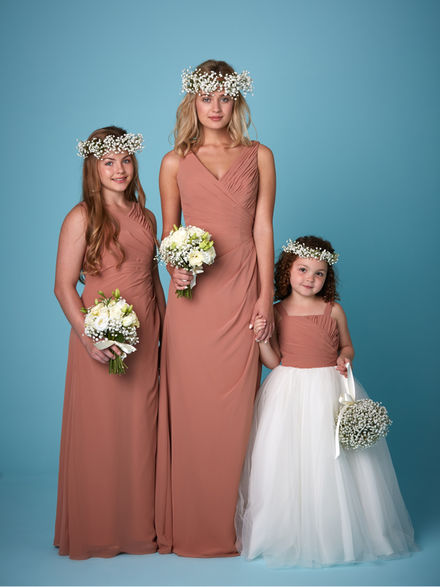 V Neck Chiffon Bridesmaid Set