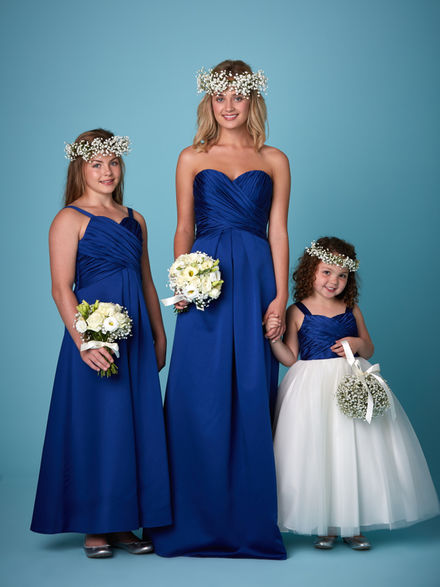 Strapless Satin & Chiffon Bridesmaid Set