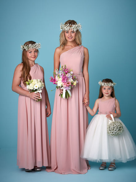 One Shoulder Chiffon Bridesmaid Set