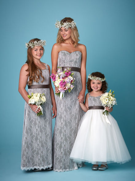 Lace Overlay Bridesmaid Set