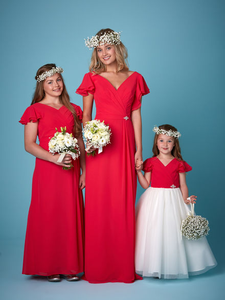Ruffle Sleeve Bridesmaid Set