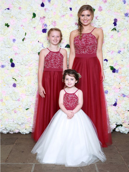 Racer Neck Style Bridesmaid Set