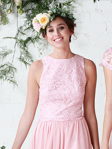 Sleeveless Lace Bridesmaid Topper