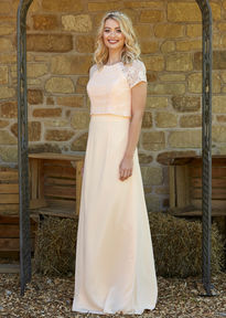 Mock Lace Bodice Bridesmaids Dress
