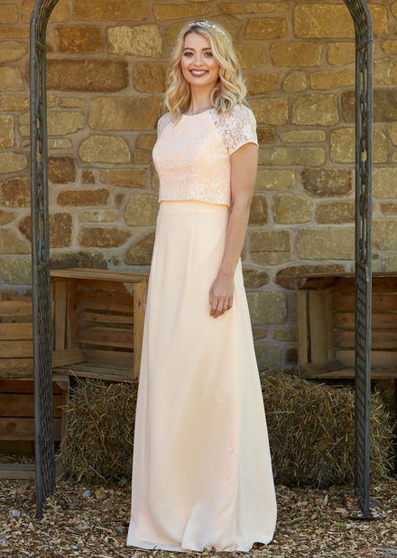 Bridesmaid Dress with Lace Jacket