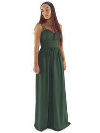 Chiffon Bridesmaids Dress with Double Straps