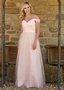 Lace Cold Shoulder Bridesmaids Gown