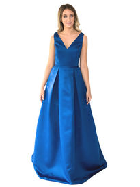 Satin Bridesmaids Dress with Bow Detail