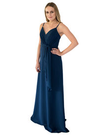 Chiffon Bridesmaid Dress with Tie Detail
