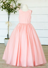 Chiffon Flowergirl Dress with Keyhole Back