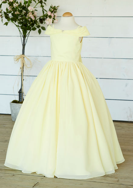 Chiffon Off The Shoulder Flowergirl Dress