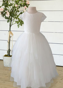 Flowergirl Dress with Tulle Bow