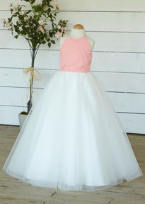 High Neck Flowergirl Dress