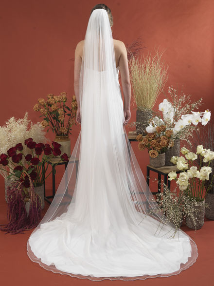 Italian Tulle Veil with Diamante Trim