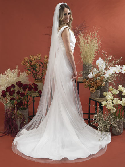 Plain Single Tier Veil