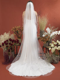 Crystal & Pearl Scalloped Edge Veil