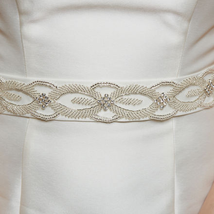 AW1239 Pearl & Diamante Bridal Belt