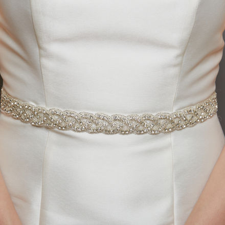 AW1252 Diamante Bridal Belt