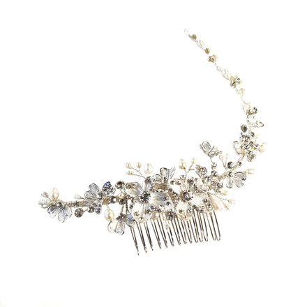 AW1285 Floral Comb with Trailing Vine