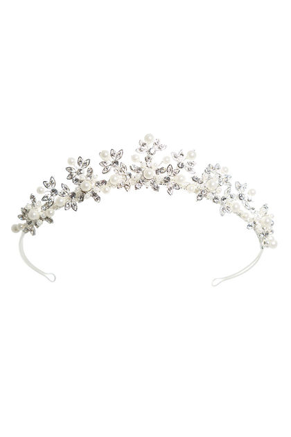 AW899 Pearl and Diamante Tiara