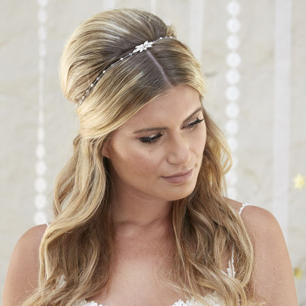 Aurora Draped Headpiece