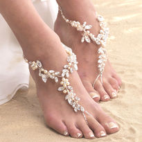 Pearl Blossom Barefoot Sandals