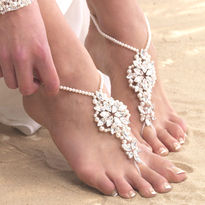 Pearl Crochet Style Barefoot Sandals