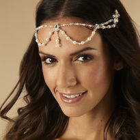 Draped Pearl Headpiece