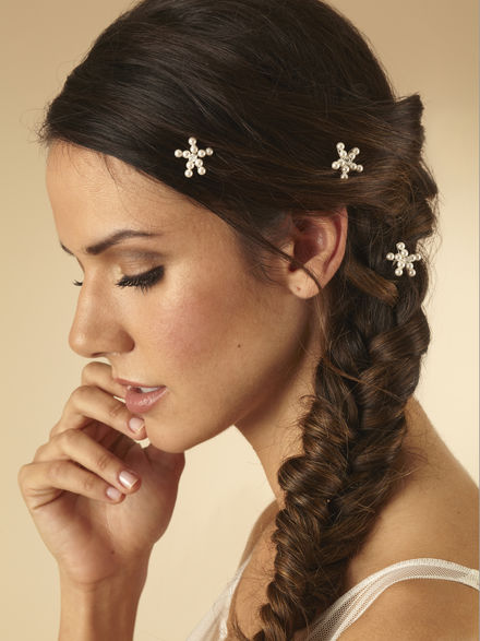 Set of 3 Pearl Star Hairpins