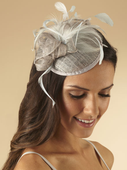 Smartie Fascinator with Curled Feathers