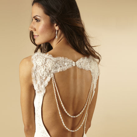 Double Pearl Back Drape