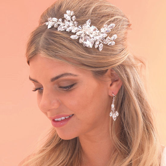 chunky crystal diamante bridal side tiara side comb by arianna