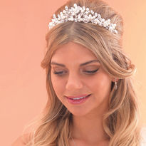 Traditional Pearl & Crystal Tiara