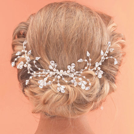 Large Pearl & Diamante Hair Vine Comb