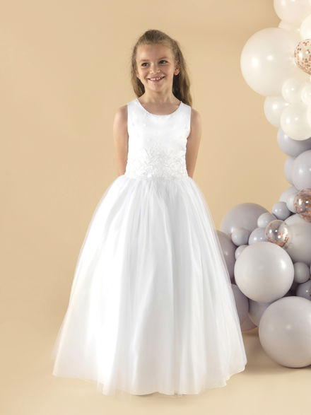 Full Length Beaded Communion Dress
