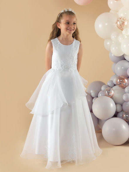 Full length Frilly Communion Dress