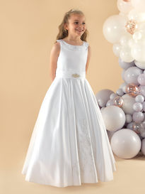 Satin Communion Dress with Collar
