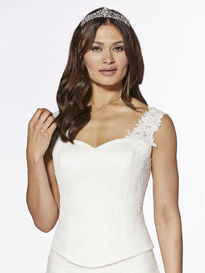 Lace Covered Satin Bodice with Lace Straps