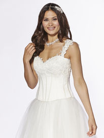 Bridal Bodice with Floral Appliques