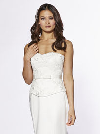 Satin Bodice with Beaded Lace and Bow Sash