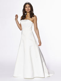 A-line Satin Wedding Base Dress