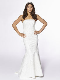 Mermaid Fit Strapless Beaded Overdress