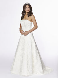 A-line Strapless Lace Overdress