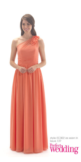 One Shoulder Full Length Bridesmaid Dress
