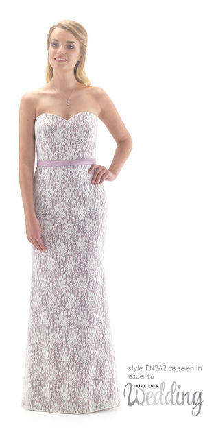 Allover Lace Mermaid Style Bridesmaid Dress