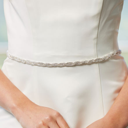 Narrow diamante belt
