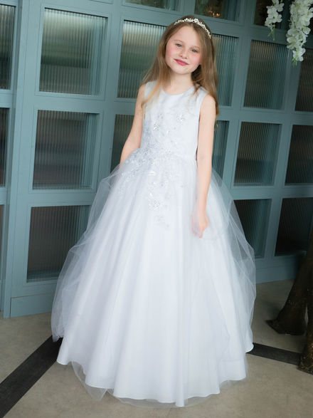 Floral Bodice Communion Gown