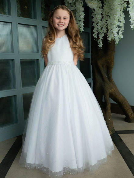 Sparkle Tulle Gown with Beaded Belt