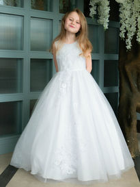 Sparkle Tulle Dress with 3D Flowers